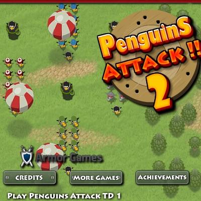 Гра Захист Башти від атаки пінгвінів 2