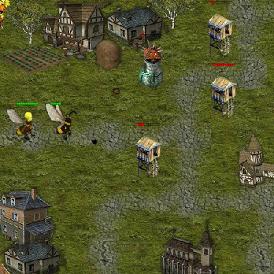 Гра Захисти Поселення від бджіл мутантів