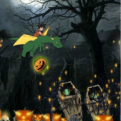 Гра Політ на драконі в Хеллоуїн