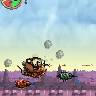 Гра літаюча і стріляючий Парова машина
