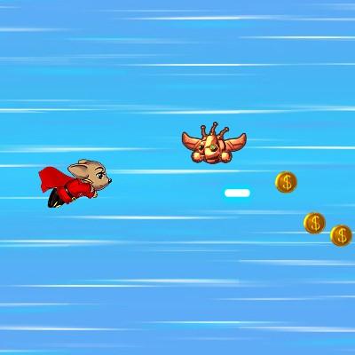 Гра Леталка: Супер Мишка проти полища роботів