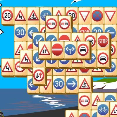 Гра Маджонг: Дорожні Знаки