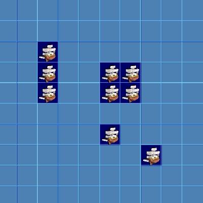 Гра Морський Бій: Флот в клітку