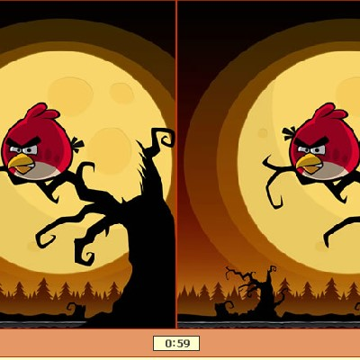 Гра Знайди Відмінності: Злі птахи