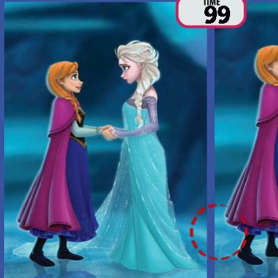Гра Знайди відмінності в картинках: Холодне серце