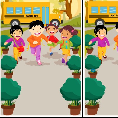Гра Знайди Відмінності для дітей: Шкільний Автобус