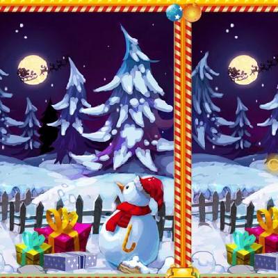 Гра Знайти Відмінності: Різдво