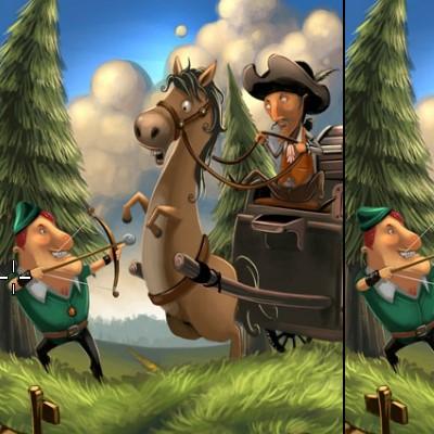 Гра Знайди Відмінності: Картинки з казки Робін Гуда