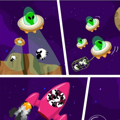 Гра Вівці проти Прищельцев: Гравітаційна Гармата