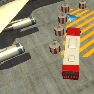 Гра Парковка Автобуса в Аеропорту 3д