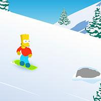 Гра Сімпсони катаються на сноуборді