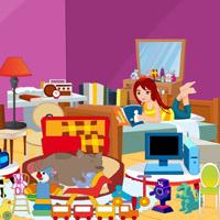 Гра Переробка Кімнати Дівчинки з підказками
