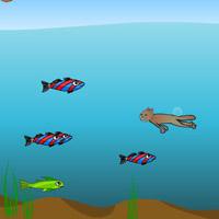 Гра плавання під водою: Ловець риби