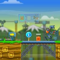 Гра Робот збирає паливо для корабля