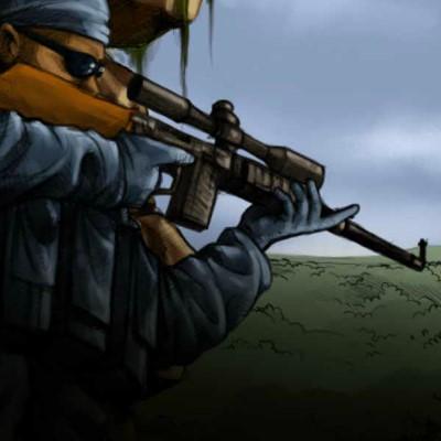 Снайпер гра в Укритті