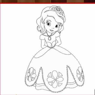 Гра Софія Прекрасна  Розфарбуй Принцесу 893b59e01e4ca