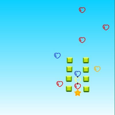 Гра Три в Ряд: Ловля сердечок