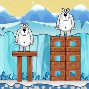 Гра на Фізику Захист: Пінгвіни проти Ведмедів