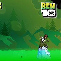 Гра Бен 10 стрибає по крижині
