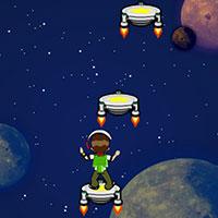 Гра Бен 10 стрибає в космосі
