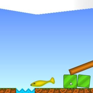 Гра Допоможи Рибі Дістатися до Водойми