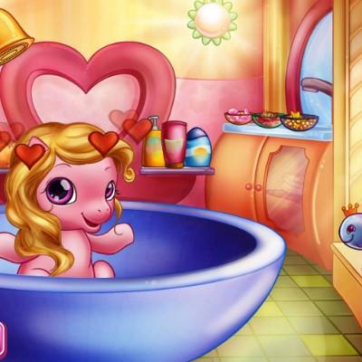 Гра Вихованці: Помити Маленького Поні у Ванній