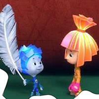 Гра Фіксики пазл: Нулик і Сімка