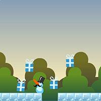 Гра Новий Рік - Сніговик стріляє морквинами