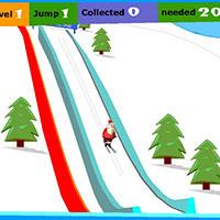 Гра Новий Рік: Стрибки на лижах