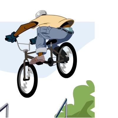 Гра Трюки на Гірському Велосипеді
