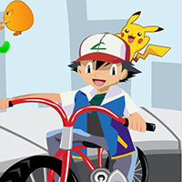 Гра Покемони на велосипедах
