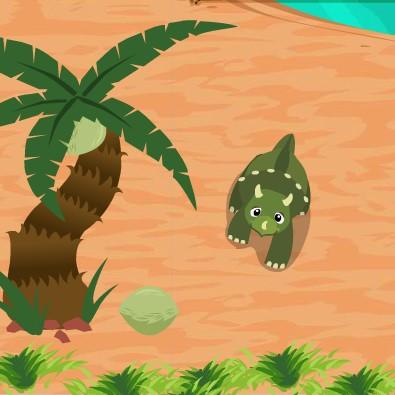 Гра Динозаври: Стиракозавр Збір Листя