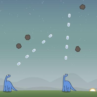 Гра Динозаври проти Астероїдів