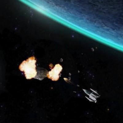 Гра Космос: Знищення Астероїдів