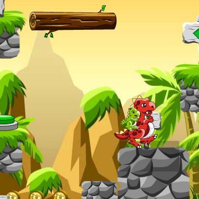 Гра Пастки: Пара Динозаврів