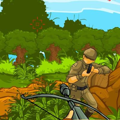 Гра Стрільба з Арбалета: Рембо в Джунглях