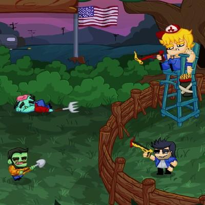 Гра Друзі з Цибулею проти натовпу Зомбі