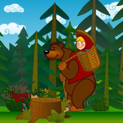 Гра Математика: Маша і Ведмідь