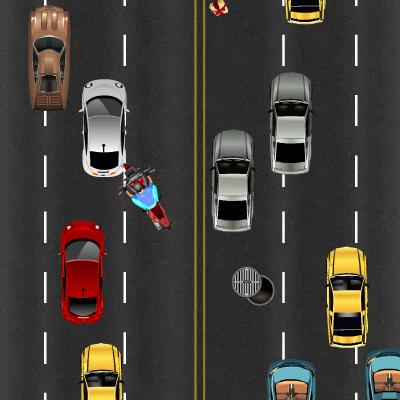 Гра Мотоцикли: Проїхати через Пробку не Торкаючись Машин