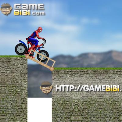Гра Людина-Павук на Мотоциклі: Проїхати через Міст