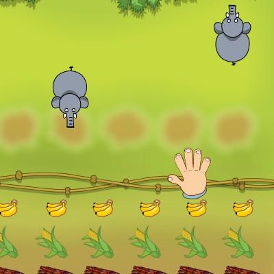 Гра на Спритність: Погодувати Слоника