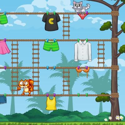 Гра на Спритність: Білка проти Кота