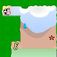 Гра Супер корова в лабіринті