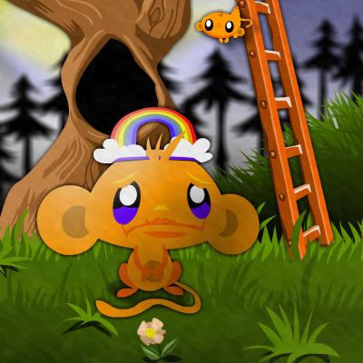 Гра Щаслива Мавпочка і Дитинчата