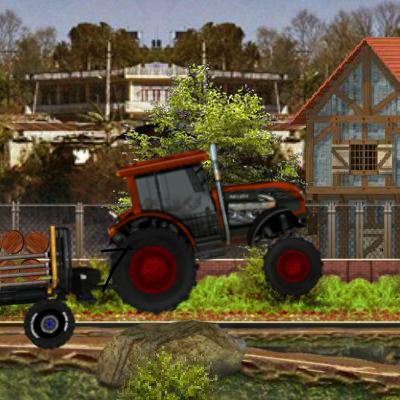 Гра Перевезення: Трактор з Причепом