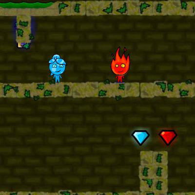 Гра Платформери на Двох: Вогонь і Вода в Лісовому Храмі