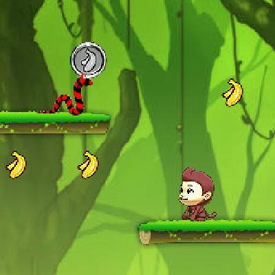 Гра Платформер: Мавпа і Банани