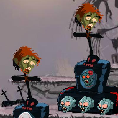 Гра Платформер: Зупинити Навалу Зомбі