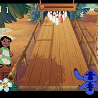 Гра Ліло і Стіч грають у боулінг