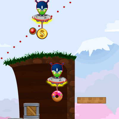 Гра Шкідливі Прибульці: Пончики і Долари